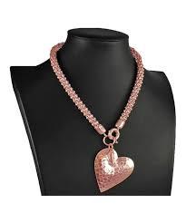 rose gold large hammered heart pendant