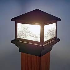Sirius Post Cap Light By Aurora Deck Lighting Fence Lighting Backyard Lighting Fence Decor