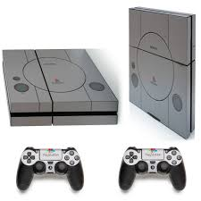 Gng Old School Ps1 Playstation 4 Ps4 Protective Vinyl Decal Skin Stick