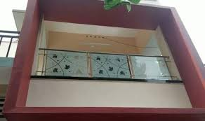 stainless steel design glass balcony