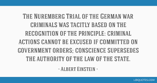 the nuremberg trial of the german war criminals was tacitly based