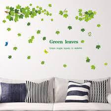 9145 Y Waterproof Green Leaves Wall Sticker Sale Price Reviews Gearbest