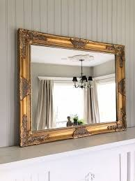 gold vintage farmhouse mirror shabby