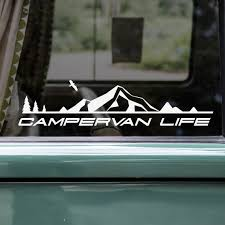 1 X Camper Van Life Sticker Window Decal Bodywork Sticker Etsy