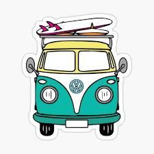 Decals Stickers Collectibles Vw Hippie Bus Van Decal Window Bumper Sticker Retro Bus Volkswagen Wagon Peace Transportation Collectibles Zsco Iq