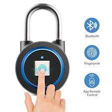 Fingerprint Padlock Smart Bluetooth Lock App Unlock 15 Groups Fingerprints Keyless Lock For Gym Sports School Employee Locker Outdoor Fence And Storage Support Usb Charging Buy Online In Cambodia Missing