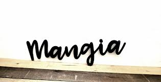 Mangia Sign Kitchen Metal Wall Art Mangia Kitchen Sign Etsy Kitchen Metal Wall Art Kitchen Metal Wall Kitchen Signs