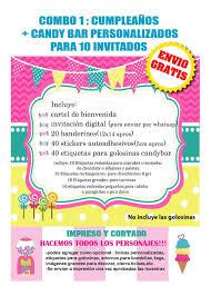 Carrusel Kit Cumple Invitacion Carte Stickers Envio Gratis