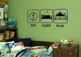 Fortnite Eat Sleep Play Xbox Ps4 Wall Stickers Vinyl Gaming Fortnight Home Furniture Diy Home Decor Wall Decals Boy Room Eat Sleep Wall Stickers