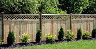 55 Lattice Fence Design Ideas Pictures Popular Types In 2020 Lattice Fence Privacy Fence Landscaping Backyard Fences