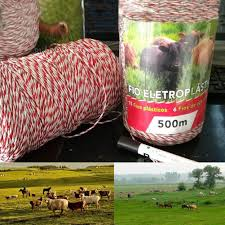 500 Meters Electric Fence Poly Wire Red White Polywire With Steel Wire Poly Rope For Horse Fencing Ultra Low Resistance Hot Wire Fencing Trellis Gates Aliexpress