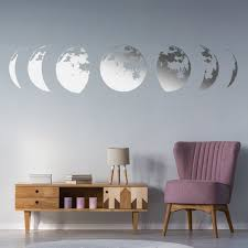 Moon Phases Wall Decor Decal Gold Home Art Living Room Etsy