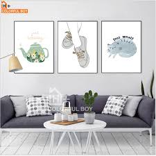 colorfulboy canvas painting modern mini st good morning quotes