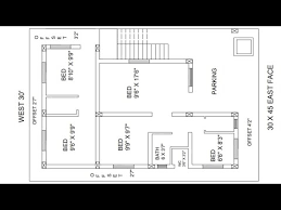 30 x 45 east face house plan with