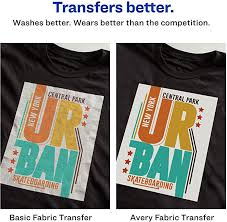 Amazon Com Avery 3279 Printable Heat Fabric Transfer Paper For Diy Projects On Dark Fabrics Make Custom Bandanas Pack Of 5 Fabric Iron On Transfers Office Products