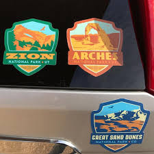 Big Emblem 61 Piece National Parks Sticker Set
