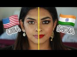 us vs indian makeup beauty makeup