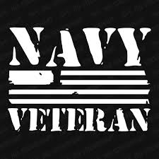 Navy Veteran Flag Vinyl Decal Army Veteran Navy Veteran Veteran