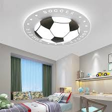 Creative Dimmable Color Football Ceiling Lights Round Lamp Black Blue Red Hanging Lights Children Kids Room Nordic Ceiling Lamp Ceiling Lights Aliexpress