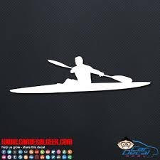 Kayaker Car Window Vinyl Wall Decal Sticker Kayak Decals