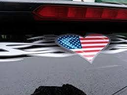 Amazon Com East Coast Vinyl Werkz Tribal Heart American Flag Windshield Window Decal Banner Usa Automotive