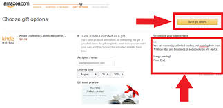 how to give a kindle unlimited gift to