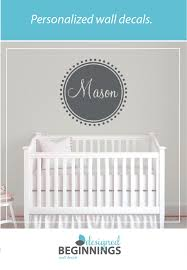 Personalized Name Wall Decal Nursery Wall Decal Baby Wall Etsy Name Wall Decals Baby Wall Decals Nursery Wall Decals