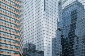 glassy walls stock photos