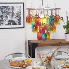wine glass chandelier from litecraft