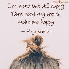 i m alone but still happy es