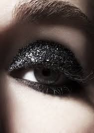 black glitter eye makeup pictures