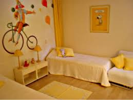 Enchanting Kids Room Decorating Ideas Cute Yellow Childern Bedroom Design With Bicycle Wallpaper Decor Coolest Furniture Also Creamy Bedspreads And Cushions Rug On Wood Floor For Cute Boys Facebook Wallpaper Photo Shared
