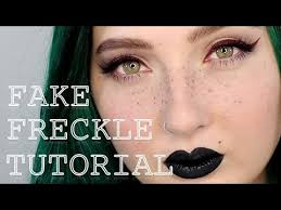 how to fake freckles makeup tutorial