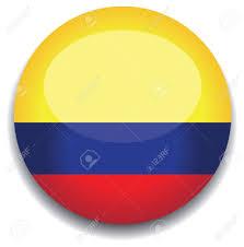 Bandera De Colombia En Un Botón Ilustraciones Vectoriales, Clip Art Vectorizado Libre De Derechos. Image 10230197.