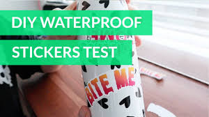 How To Make Waterproof Stickers Cricut Youtube