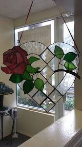 beautiful rose window suncatcher heart