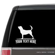 Bloodhound Car Window Decal Personalized Vinyl Sticker Laptop Wall Dog Ebay