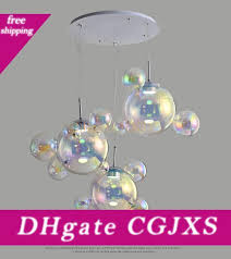 Creative Kids Room Chandeliers Modern Led Hanging Lighting Living Room Bedroom Glass Lamp Shade High Pressure Tri Color Light Llfa Ceiling Hanging Lights Pendants Lights From Qqfeiche 974 44 Dhgate Com