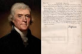 Long-lost Thomas Jefferson letter on ...