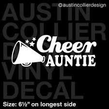 6 5 Cheer Auntie Vinyl Decal Car Window Laptop Sticker Cheerleader Squad Ebay