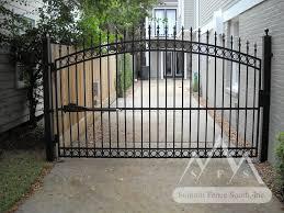 Iron Fence Gate C Arch Summit Fence South Fence Gate Design Backyard Fences Metal Fence Gates