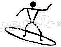 Surfer Stickman Decal Decal Max