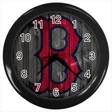 Boston Red Sox Mlb Baseball Team 247 Wall Clock Luxury Timepiece Home Decor Lucksome