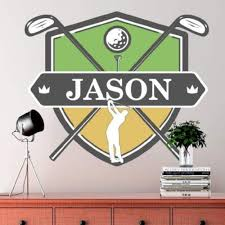 Picture Perfect Decals Custom Golf Wall Decal Custom Removable Wallpaper Sticker Design With
