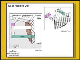 retaining wall wood retaining wall