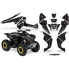 Amazon Com Amr Racing Atv Graphics Kit Sticker Decal Compatible With Can Am Renegade 500 800 1000 All Years Reaper Black Automotive