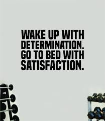 Determination Satisfaction Gym Fitness Wall Decal Home Decor Bedroom R Boop Decals