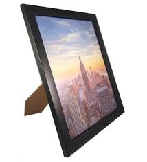 amo 8x10 black wood picture frame glass