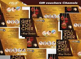 printing gift vouchers chamois