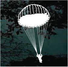 Skydiving Parachute Jump Decal Window Sticker